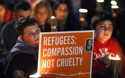 Protesta a favor de los refugiados