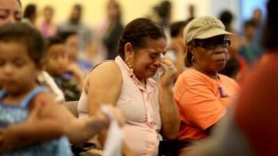 Inmigrantes hondureños deportados de Estados Unidos.