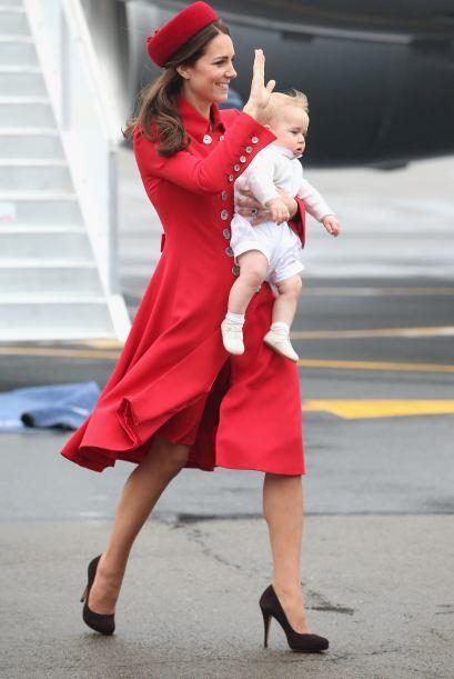 La Duquesa de Cambridge arribó a Nueva Zelanda para cumplir con l...