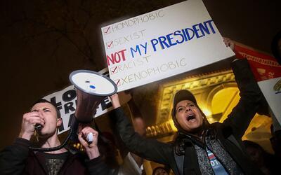 Protestas anti-Trump en la quinta avenida de Nueva York