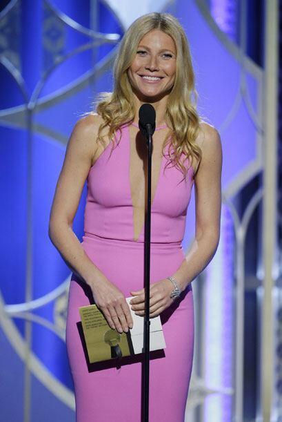 Gwyneth Paltrow anunció la categoría de Mejor Actor - drama.