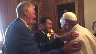 Video de la reunión del papa Francisco con la pareja homosexual