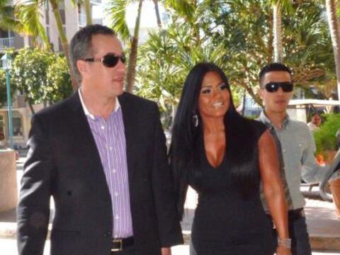 Maripily llegó en compañía de su novio y prometido Albert Rodríguez al H...