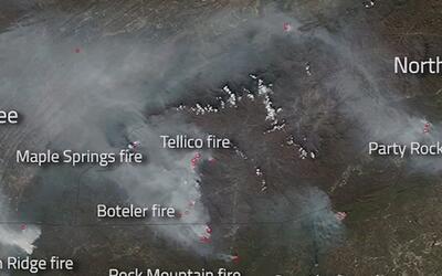 Registran desde el espacio imágenes de los incendios que azotan el sures...