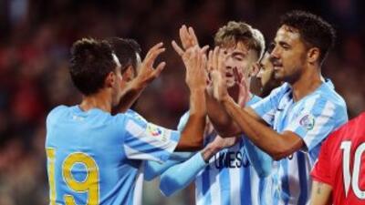 Samu abrió el camino de la victoria del Málaga ante Córdoba.