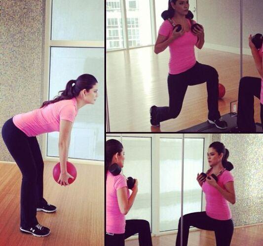 """""""Terminando mi entrenamiento con Claudia Molina"""", mostró Ana en Twitter...."""