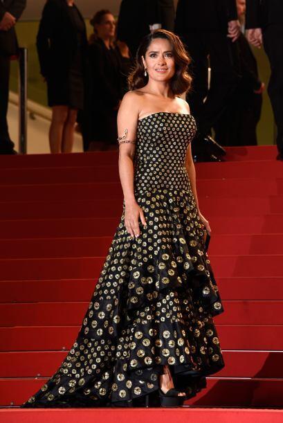 Salma Hayek durante el estreno de su cinta en Cannes
