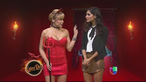 Alejandra Espinoza se junta con la Mujer de Rojo