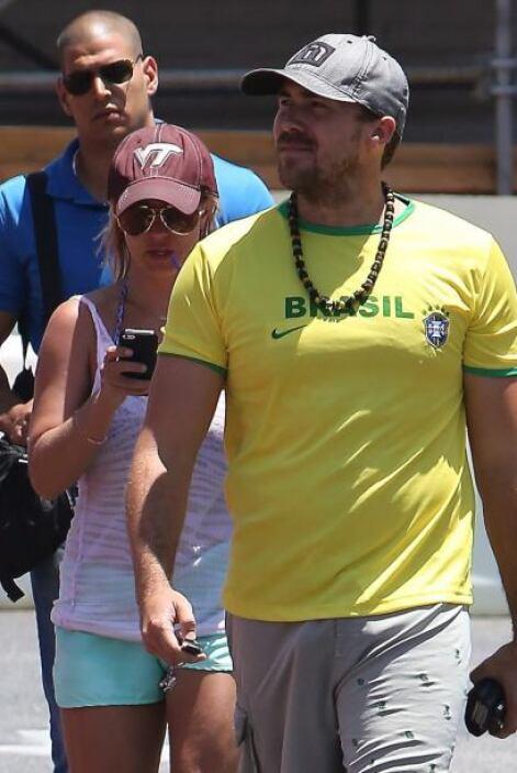 Aunque Britney se mostró muy indiferente ante la Copa del Mundo, su novi...