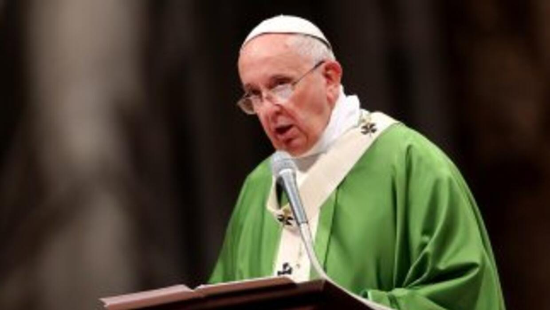 El papa Francisco en el Sínodo de obispos.