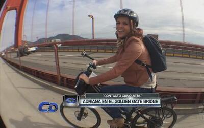 Adriana conquista el Golden Gate Bridge en bicicleta eléctrica