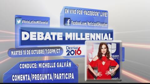 Noticias 45 de Univisión Houston realizan el primer debate millennial