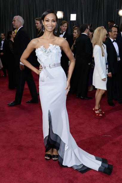 Zoe Saldana fue otra de las famosas que estuvo en la lista de las mejore...