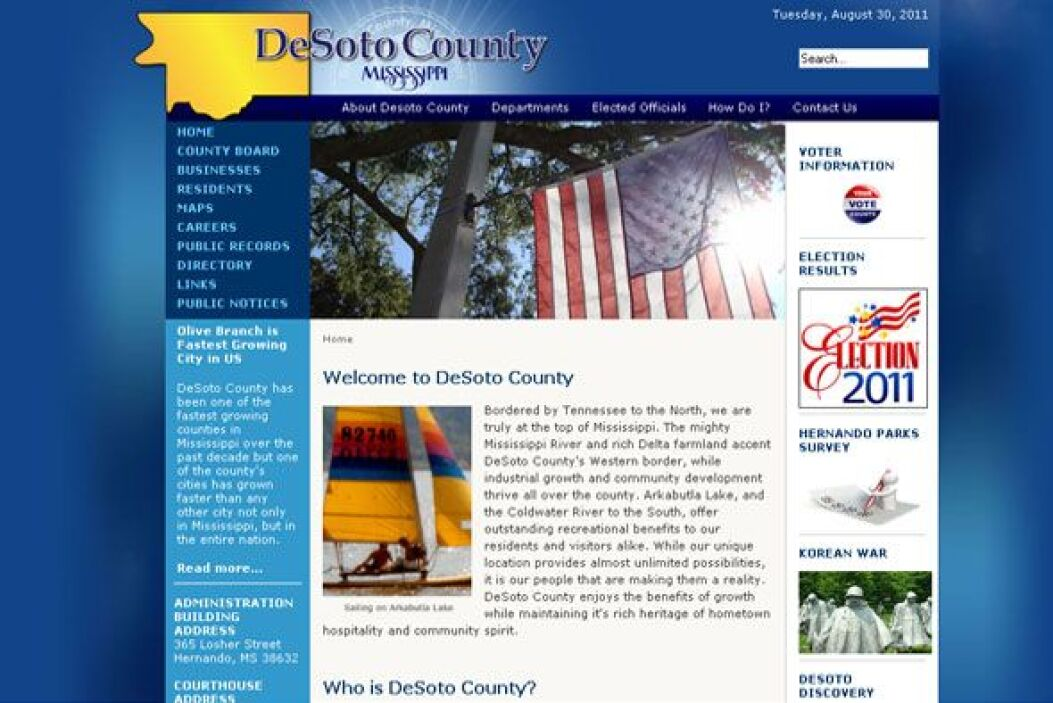 7. DESOTO COUNTY, MISS.- Localidades como Hernando, Olive Branch y South...