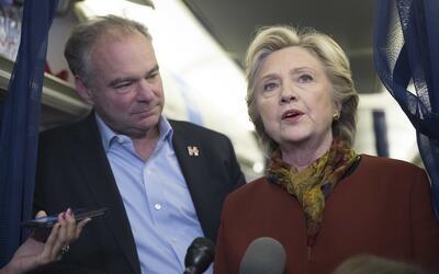 Tim Kaine y Hillary Clinton