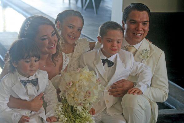 Una imagen muy tierna, todos estaban felices.