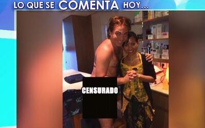 Mira la foto censurada de Cristian Castro semidesnudo