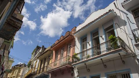 Edificios restaurados en la Vieja Habana.