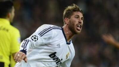 Ramos marcó el segundo gol de los madridistas, aunque no bastó para lleg...