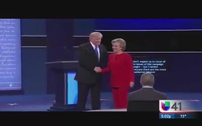 Comunidad reacciona al debate en Clinton y Trump