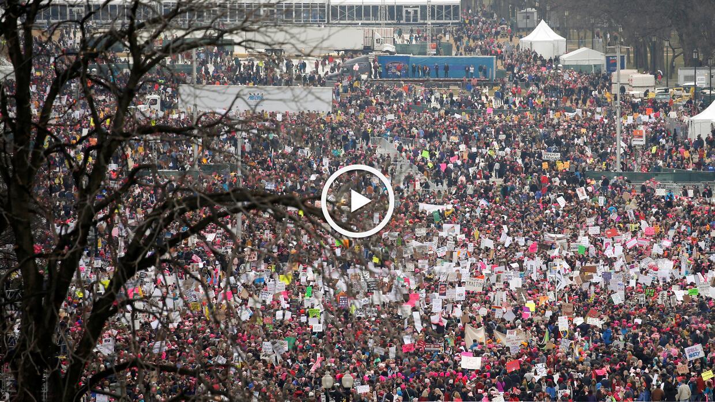 La multitud toma Washington en favor de las mujeres