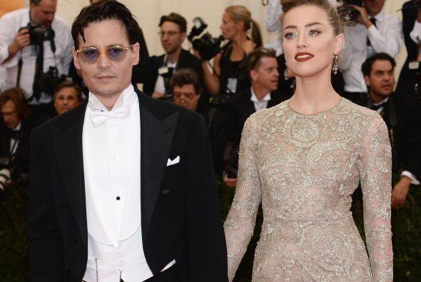 Johnny Depp y Amber Heard durante la gala del MET en 2014.