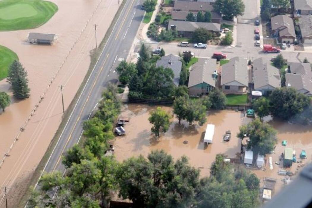 Las fuertes lluvias provocaron terribles destrozos en Boulder, Colorado....