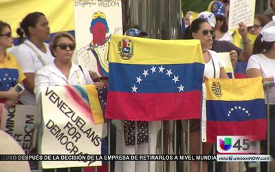 Venezolanos en Houston protestaron contra el régimen de Maduro