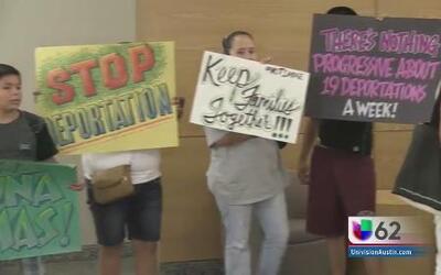 Protesta contra el alguacil de Travis