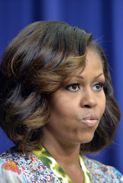 Michelle Obama sorprendió a todos con esas luces color miel que s...