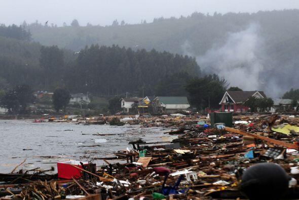Tras el sismo vino un fuerte tsunami que destruyó varias zonas qu...