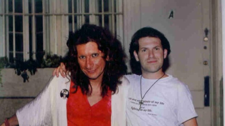 Sylvia Rivera y Jose Gutiérrez en el 25 aniversario de Stonewall en 1994.