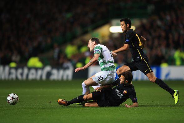 Los barcelonistas se encontraron con un equipo escocés que no les...