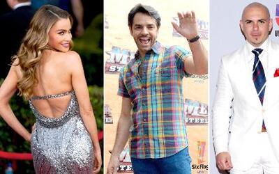 Sofía Vergara, Eugenio Derbez y Pitbull tendrán su propia estrella en Ho...