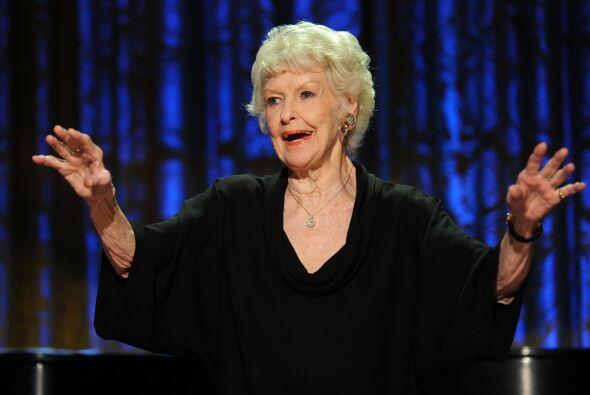 Elaine Stritch, ganadora de varios premios en Broadway y televisión, se...