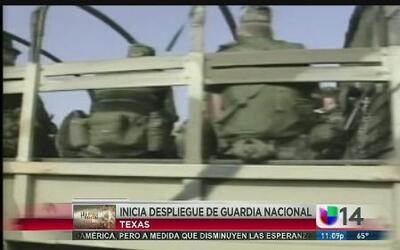 Inicia despliegue de la guardia nacional en Texas
