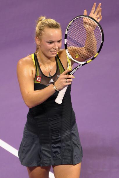 La número uno del mundo, la danesa Caroline Wozniacki, con una amplia ve...