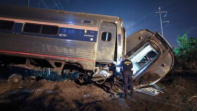 Tren de Amtrak habría sido golpeado por algún objeto