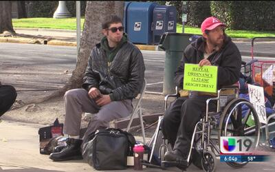 Huelga de hambre de indigentes en Sacramento