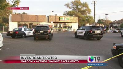 Investigan tiroteo en el estacionamiento de una tienda en Marconi y Walnut