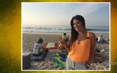 No todo es fútbol en Brasil, Maity Interiano se relaja con yoga playera...