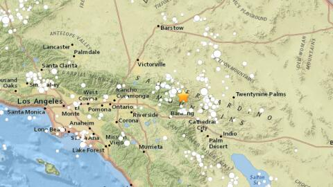 Un temblor de 3.9 se registró en Morongo Valley, California.