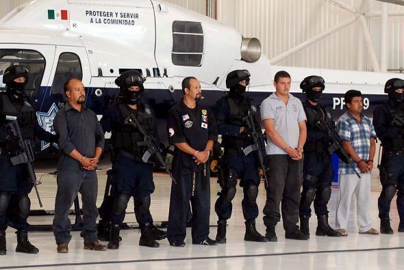 Miembros del grupo criminal conocido como Los Rojos fueron detenidos en...