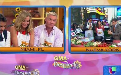 Karla enseñó a presentadores de Good Morning America a hacer tortillas c...