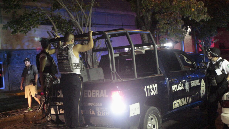 Elementos de la Policía Federal mexicana