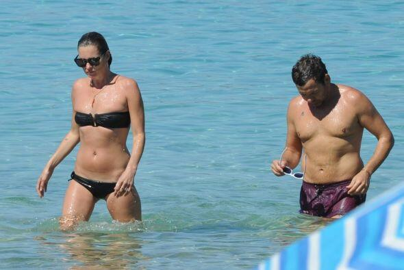 Kate Moss tamboén estaba de vacaciones en Ibiza.