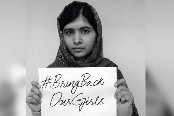 A través de su fundación, Malala pide por la causa de las chicas nigeria...