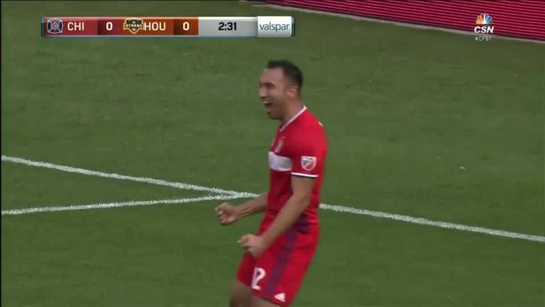 Álvarez marcó su primer gol con el Fire