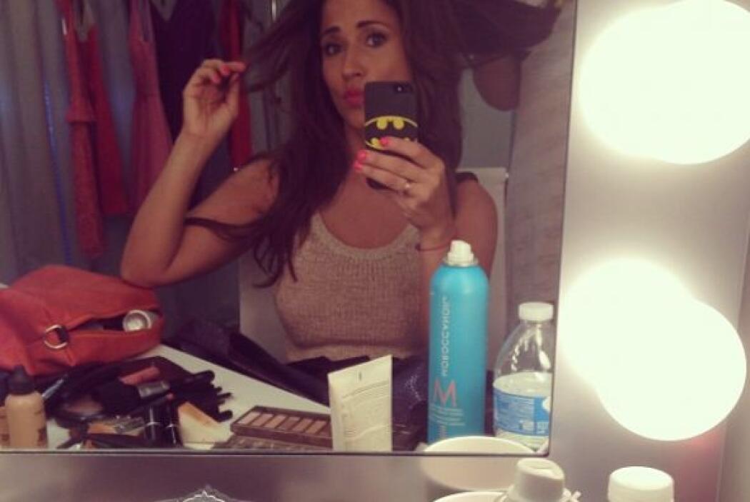 """Selfie"" en la sala de maquillaje"