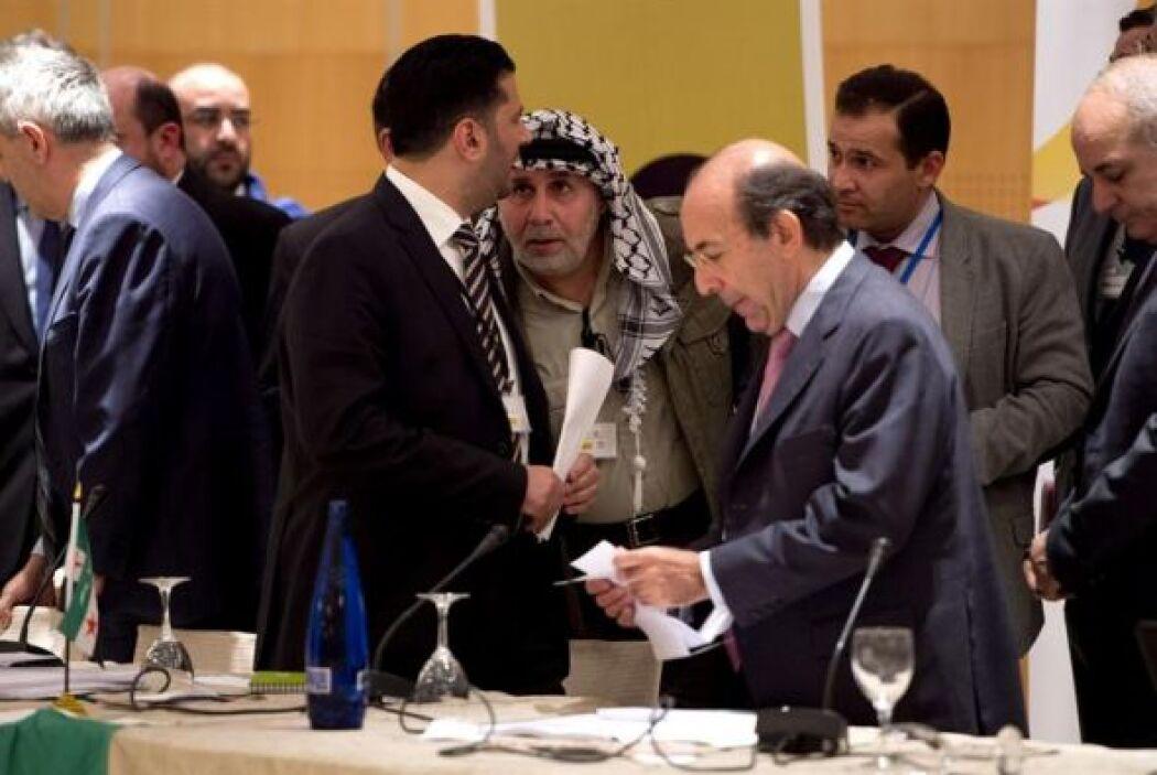 Los integrantes de la oposición moderada al régimen de Bachar al Asad, c...